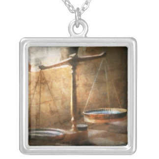 Lawyer - Scale - Balanced law Silver Plated Necklace