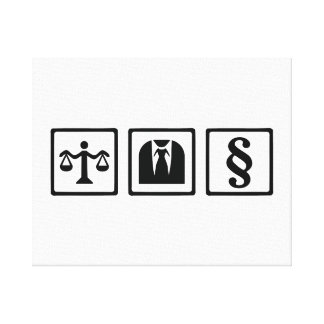 Lawyer scale suit stretched canvas prints