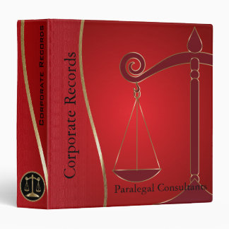 Lawyer | Scales of Justice Design | Attorney Binder