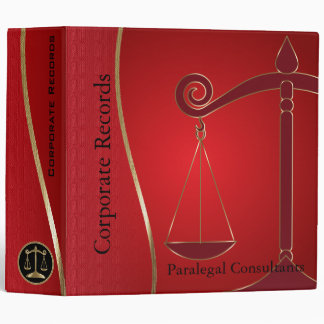 Lawyer | Scales of Justice | Red 3 Ring Binder