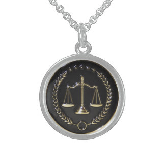 """""""Lawyer"""" Sterling Silver Pendant Necklace"""