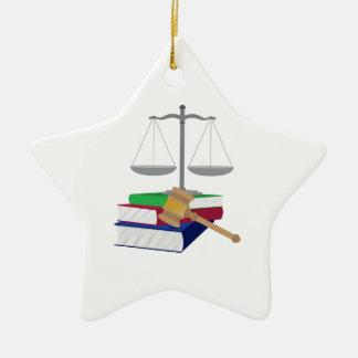 Lawyer Symbols Ceramic Ornament