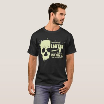 Lawyer Themed Lawyer T-Shirt Funny Gift Skull Graphic Tees
