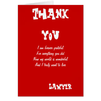 Lawyer thank you cards