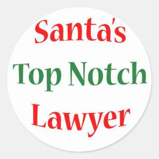 Lawyer Top Notch Classic Round Sticker