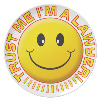 Lawyer Trust Me Smiley Party Plates