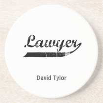 Lawyer typography coaster