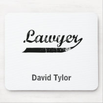 Lawyer typography mouse pad