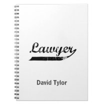 Lawyer typography notebook