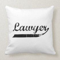 Lawyer typography throw pillow
