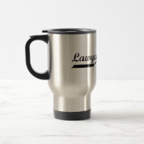 Lawyer typography travel mug