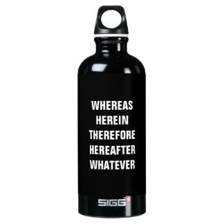 Lawyer Water Bottle SIGG .6L