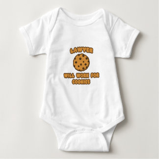 Lawyer .. Will Work for Cookies Baby Bodysuit