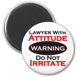Lawyer With Attitude 2 Inch Round Magnet