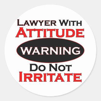 Lawyer With Attitude Classic Round Sticker