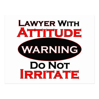 Lawyer With Attitude Postcard