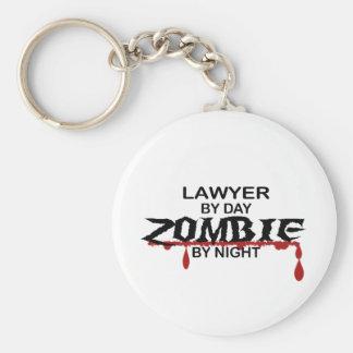 Lawyer Zombie Basic Round Button Keychain