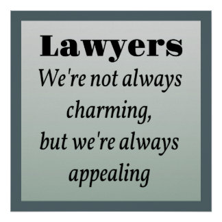 Lawyers, Always Appealing Poster