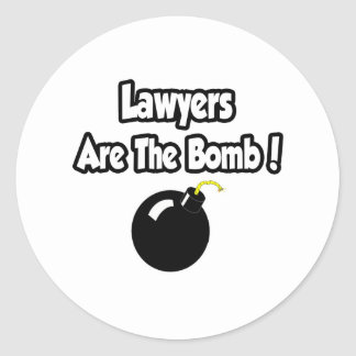 Lawyers Are The Bomb! Classic Round Sticker