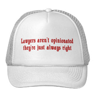 Lawyers Aren't Opinionated Hat