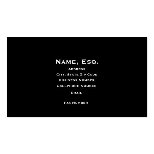 Lawyer's Business Card
