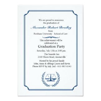 Lawyers Corner Graduation Invitation