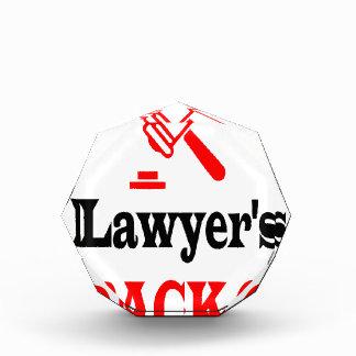 Lawyer's dad acrylic award