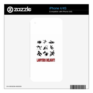 lawyers delight decal for iPhone 4
