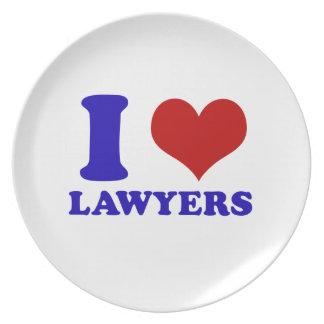 Lawyers design melamine plate
