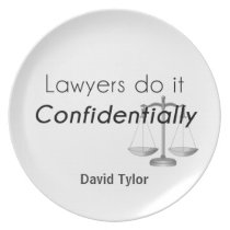 Lawyers do it Confidentially Plate
