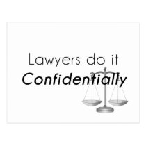 Lawyers do it Confidentially Postcard