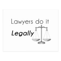 Lawyers do it! postcard
