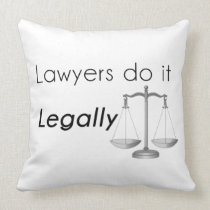 Lawyers do it! throw pillow