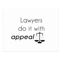 Lawyers do it with postcard