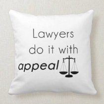 Lawyers do it with throw pillow