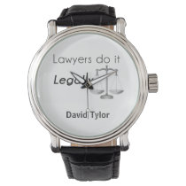 Lawyers do it! wristwatch
