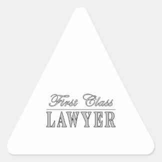 Lawyers First Class Lawyer Triangle Sticker
