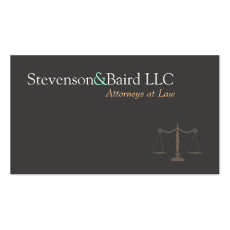 Lawyers Justice Scale Logo  Business Card