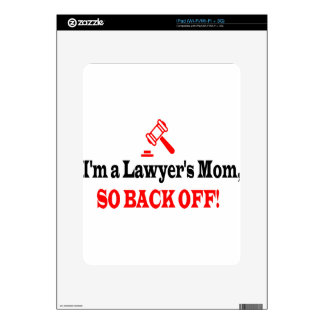 Lawyer's mom decal for the iPad