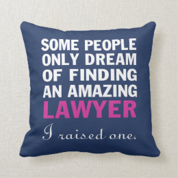 LAWYER'S MOM THROW PILLOW