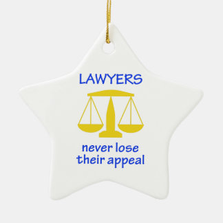 Lawyers Never Lose Their Ceramic Ornament