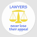 Lawyers Never Lose Their Round Stickers