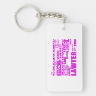 Lawyers : Pink Greatest Lawyer Double-Sided Rectangular Acrylic Keychain
