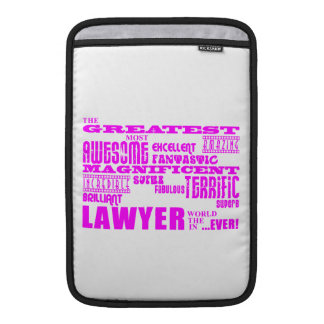Lawyers : Pink Greatest Lawyer MacBook Sleeves