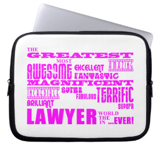Lawyers : Pink Greatest Lawyer Computer Sleeves