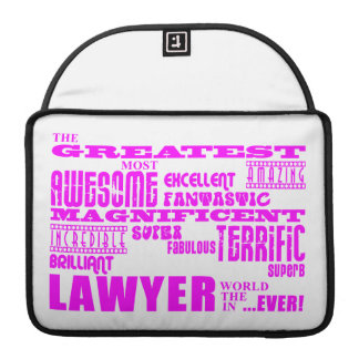 Lawyers : Pink Greatest Lawyer Sleeve For MacBooks