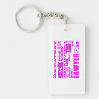 Lawyers : Pink Greatest Lawyer Single-Sided Rectangular Acrylic Keychain