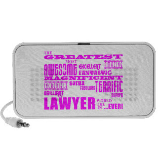 Lawyers : Pink Greatest Lawyer iPod Speakers