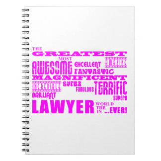 Lawyers : Pink Greatest Lawyer Spiral Note Books