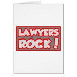 Lawyers Rock! Greeting Card